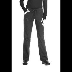 Koi Peace Lite Drawstring Scrub Pants - Black, Med